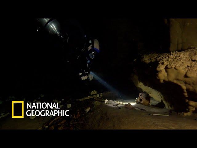 고대 마야의 수중 동굴에서 발견된 인신공양의 흔적