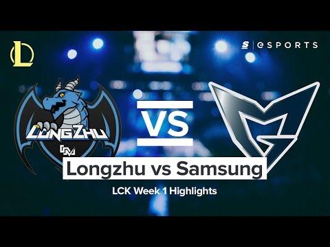 HIGHLIGHTS: Longzhu vs. Samsung Galaxy (2017 LCK Spring)