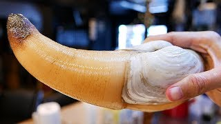 Japanese Street Food - GIANT GEODUCK CLAM Japan Seafood