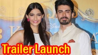 Sonam Kapoor, Fawad Khan at 'Khoobsurat' Trailer Launch | Shashank Ghosh, Rhea Kapoor