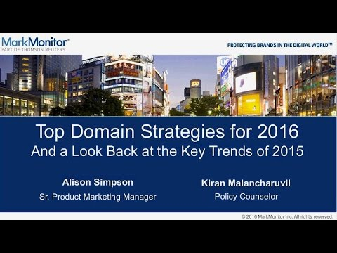 Webinar: Top Domain Management Strategies for 2016