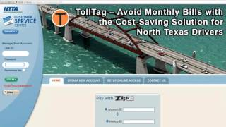 TollTag Account Management - Changing Your TollTag Account Password