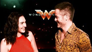 Gal Gadot & Chris Pine - cute moments ❤ impossible not to love!