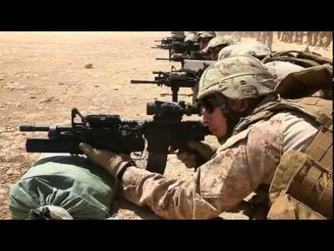 USMC Afghan Rifle Range Zeroing weapons M4 M16A4 ACOG