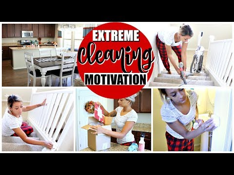 EXTREME CLEANING MOTIVATION   CLEAN WITH ME 2018   SPEED CLEANING MY HOUSE