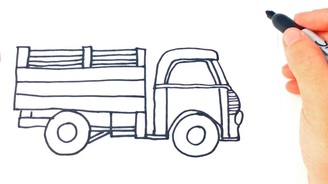 Como dibujar un camion paso a paso dibujo facil de for Dormitorio para dibujar facil