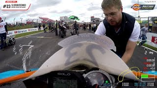 BSB Supersport R2 Brands Hatch Indy 2017 Race 1 Onboard with S. Kravcenko