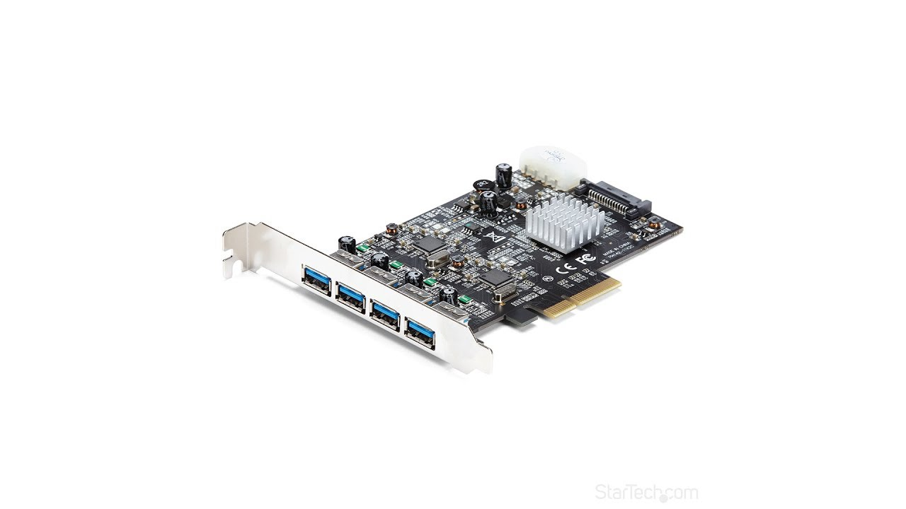 Fast Data Transfer Rates PC 4-Ports PCI-E To USB 3.0 Express Card for Mac Pro