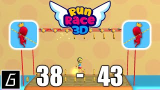 Run Race 3D Gameplay - Levels 38 - 43 + Bonus Levels - (iOS - Android)