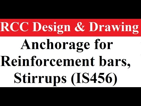 what is Anchorage for Reinforcement bars, Stirrups (IS456) || Shear and Bond by Munesh Sir
