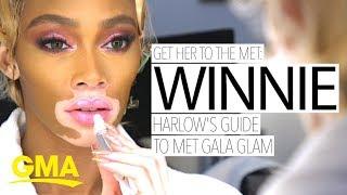 Inside Winnie Harlow's Met Gala beauty prep