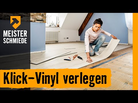 klick vinyl verlegen hornbach meisterschmiede youtube. Black Bedroom Furniture Sets. Home Design Ideas