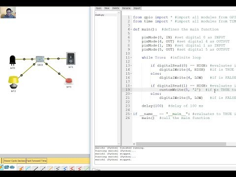 Packet Tracer - Single Board Computer (SBC) - Input/Output Python Code