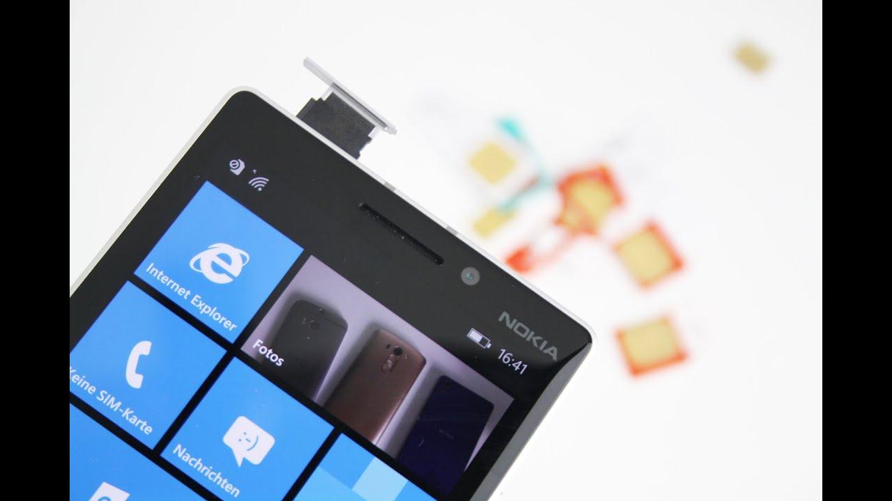 nokia lumia 930 welche sim karte geh rt rein youtube. Black Bedroom Furniture Sets. Home Design Ideas