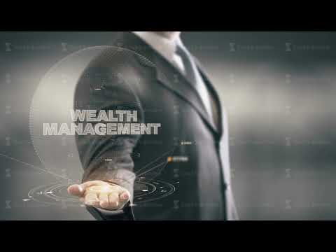 Wealth Management Businessman Holding in Hand New technologies