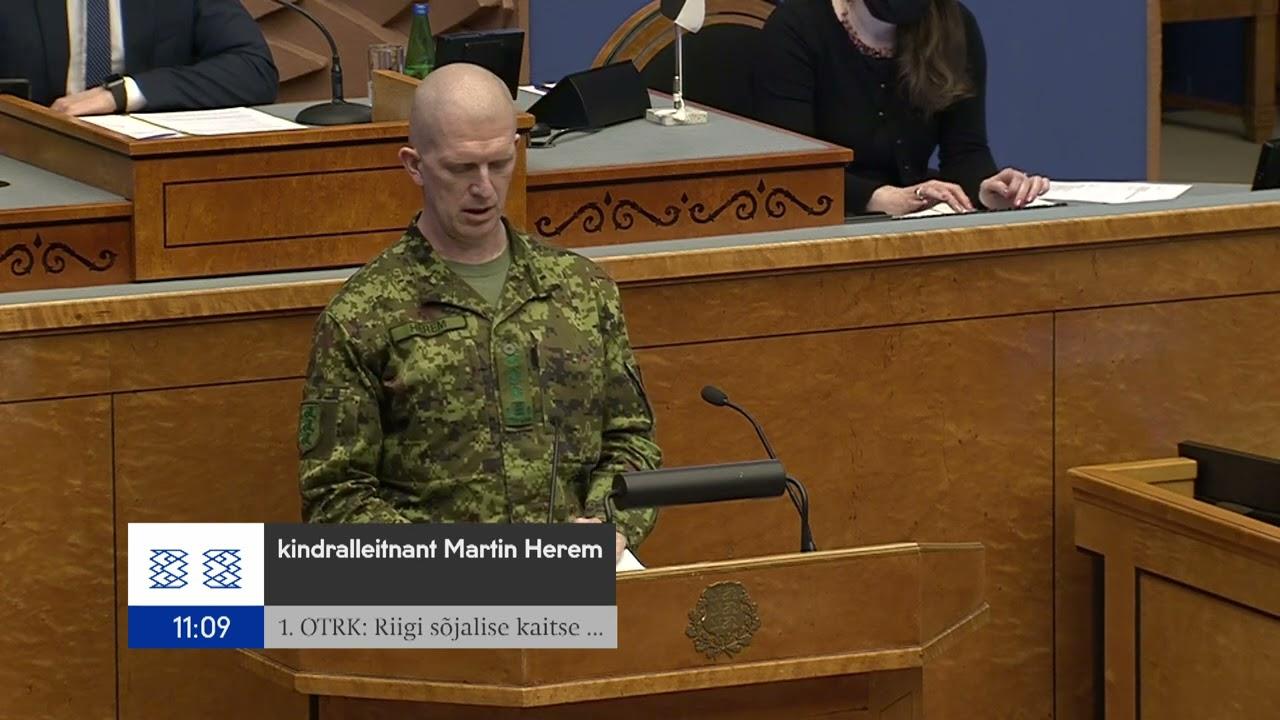 Kaitseväe juhataja kõne Riigikogust