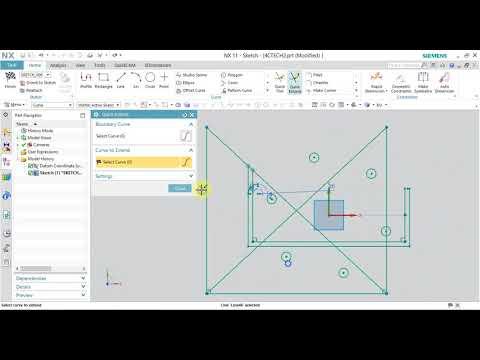 Học NX CAD Online - Bài5 : Creating Sketch Curves - Các lệnh tạo hình khi vẽ 2D