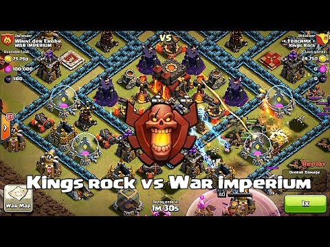 Clash of clans - Kings rock vs War imperium (clan wars)