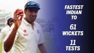Ashwin second-fastest to 200 wickets