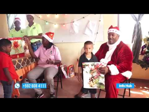 Minister of Social Protection Amna Ally donated toys to children of Mahaica Children's Home.