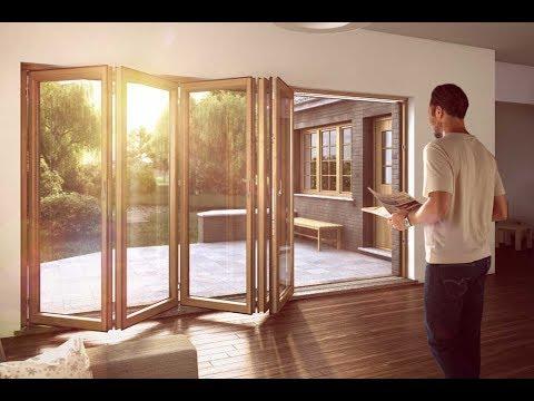 Wooden Bifold Doors With Glass Interior Designs