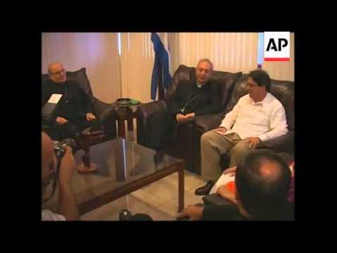 Vatican FM arrives for visit to discuss island's economic plight