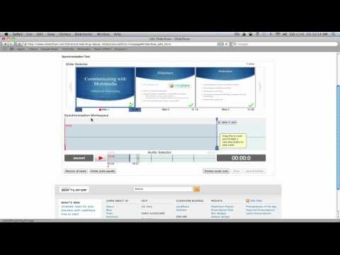 Creating a Slidecast