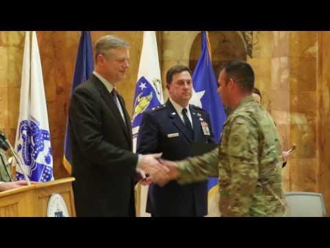 Governor Baker speaks at Massachusetts National Guard Commissioning Ceremony