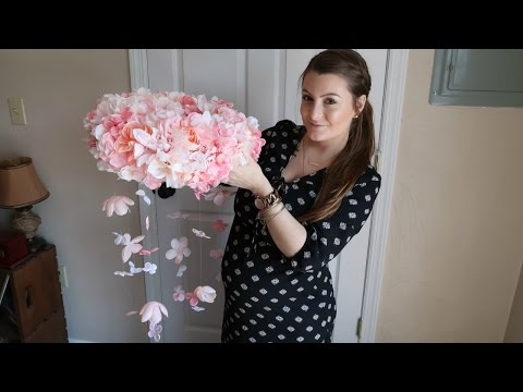 DIY Floral Mobile + Baby Shower Shopping!!   April 15, 2017
