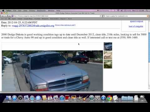 Craigslist Fresno CA Used Cars and Trucks - Vehicles Searched Under $1200