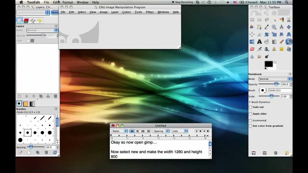 how to use gimp on mac
