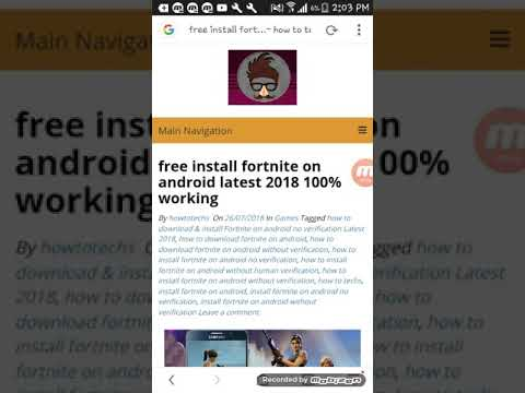 How To Download Fortnite Mobile On Any Android Device For Free No Human Verification 2018