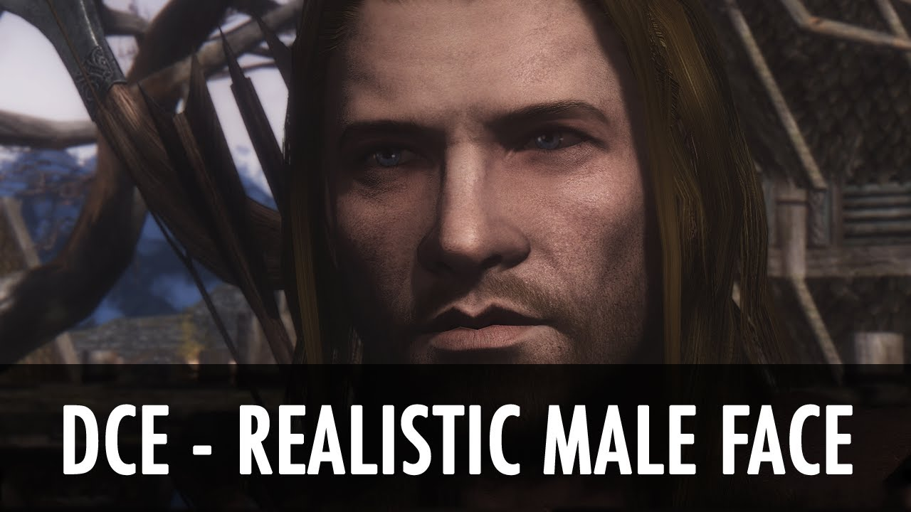 Skyrim Mod Spotlight: DCE - Realistic Male Face