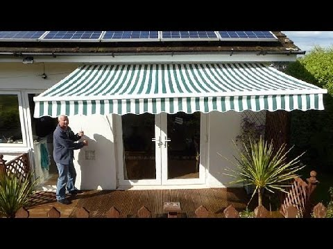 how to put up an awning youtube