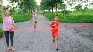 Kids go to School Learn Do Exercise   Kids Run Competition Turtle & Rabbit Race Children Song