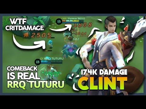 It's Insane WTF Critical Damage! Comeback Clint by RRQ'Tuturu 'One Shot You Dying' ~ MLBB