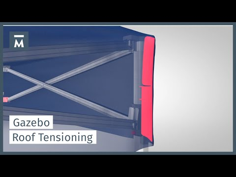 Roof tensioning for canopy tents | MASTERTENT