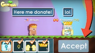 NOOB DONATE PRO! (RIP WLS) | Growtopia