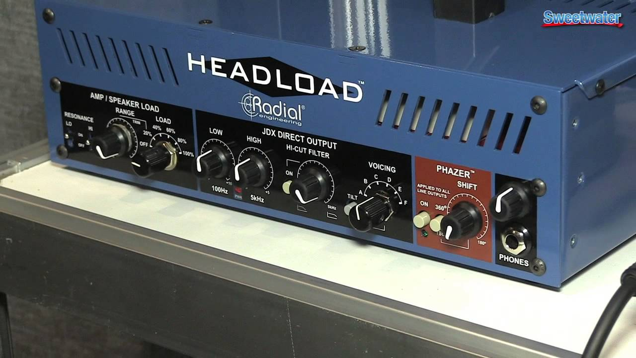 radial headload guitar amp load box demo sweetwater at winter namm 2014 youtube. Black Bedroom Furniture Sets. Home Design Ideas