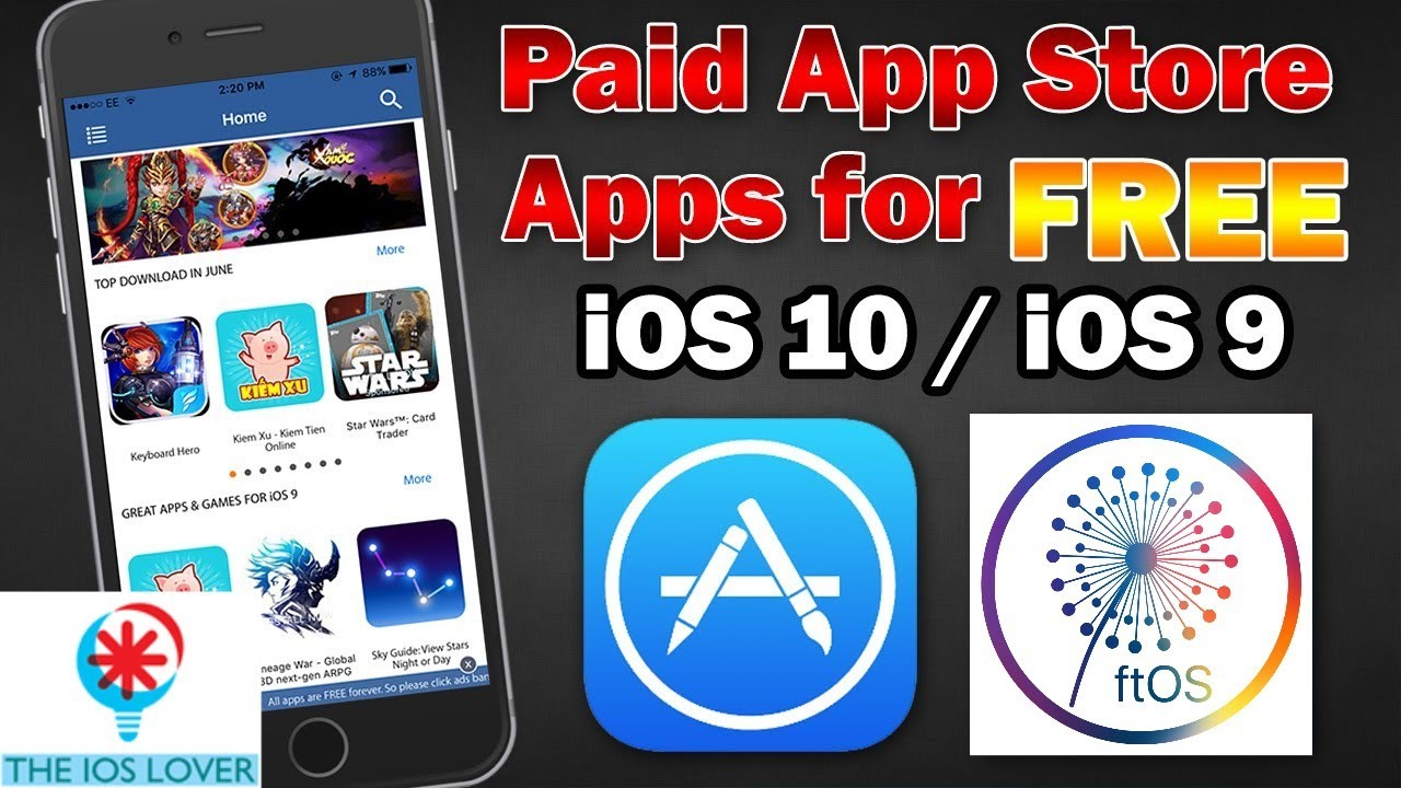 how to get paid apps for free ios 10