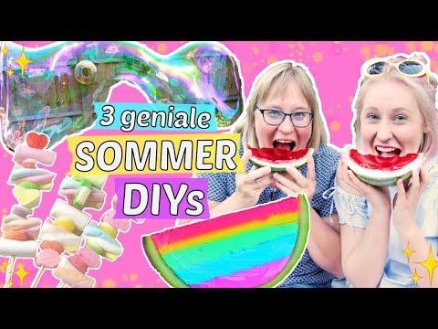 3 geniale SOMMER DIY IDEEN ☀️ JELLY WASSERMELONE