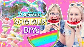 3 geniale SOMMER DIY IDEEN ☀️ JELLY WASSERMELONE 🍉 RIESEN SEIFENBLASEN selber machen 😍