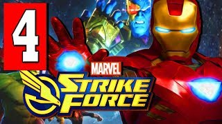MARVEL STRIKE FORCE Gameplay Walkthrough Part 4 ROCKET MAN / IRON IN THE FIRE