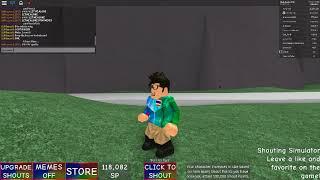 roblox Shouting Simulator : FUS RO DA