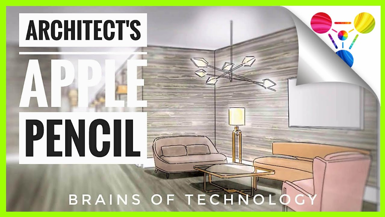 Watch Architect Use Procreate App Ipad Pro For Architectural Rendering Interior Design Youtube