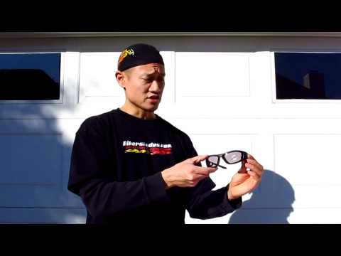 Renegade Clear to Smoke Photochromic Transition Motorcycle Glasses by Bikershades.com