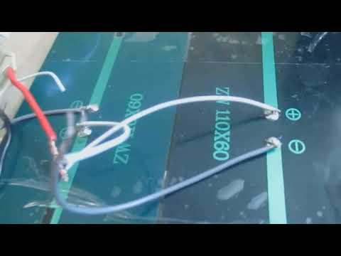 Заряжаем телефон при помощи солнечной батареи 6В 2 Ватта ЧАСТЬ1