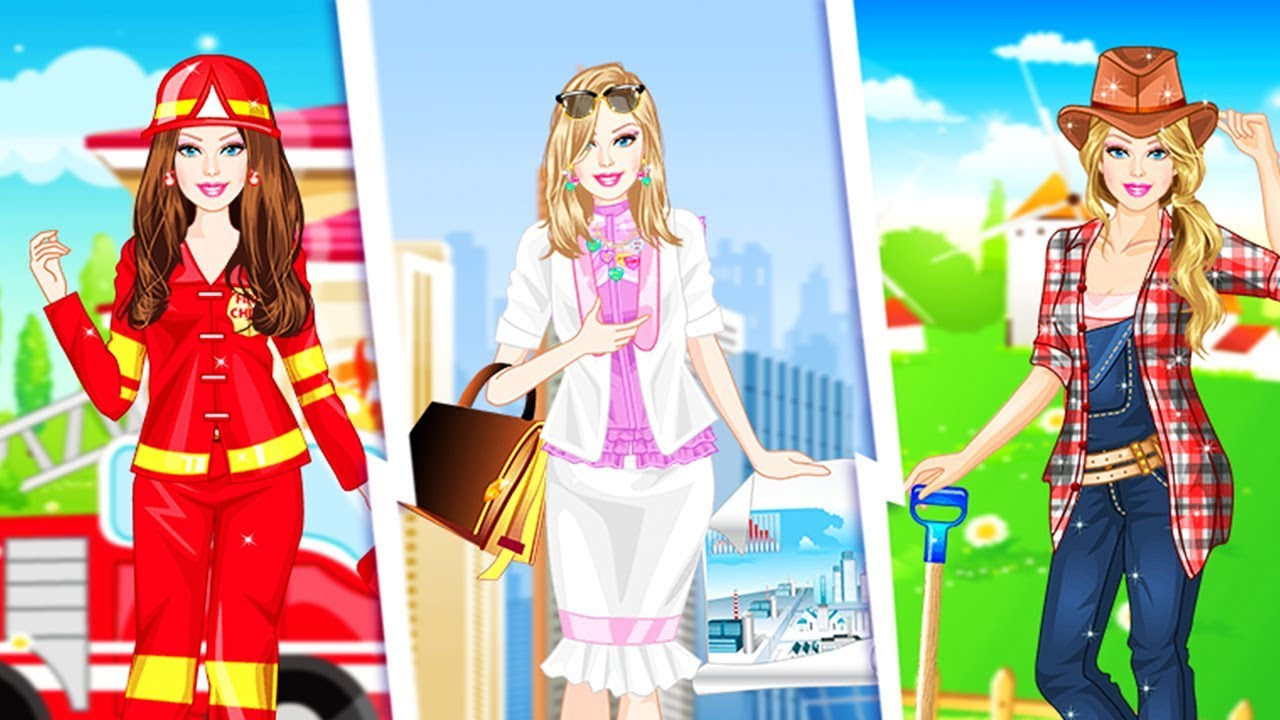 ♡ Ellie Loves Her Job - Best Work Costume Dress Up Barbie Game for Girls
