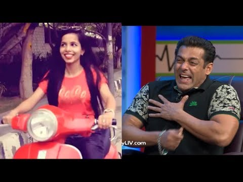 Salman Khan Reaction on Dilon Ka Shooter (Hai Mera Scooter)   Salma Khan Vs Dhinchak Pooja