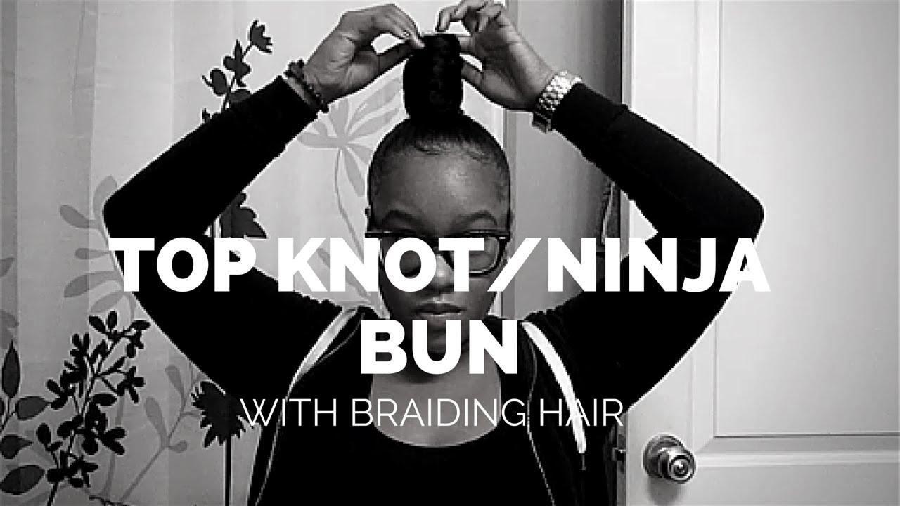 Download TOP KNOT / NINJA BUN WITH BRAIDING HAIR